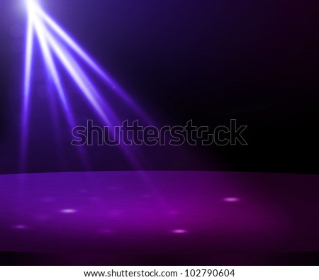 Violet Party Spotlight Stage