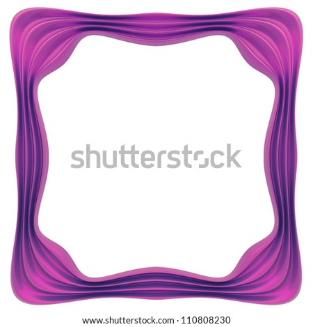 Violet rectangle frame. White background.