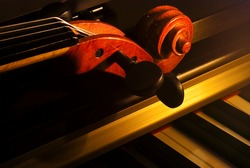 violin and piano by candlelight.