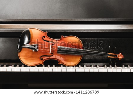 violin and piano. classical music.