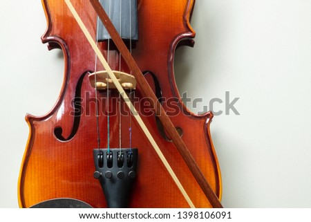 Violin Classic String Music iNstrument on iSolated White Background.