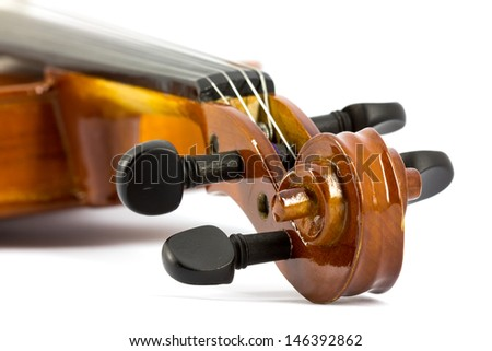 Violin detail - stock photo