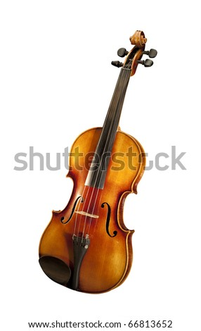Violin, isolated with clipping path