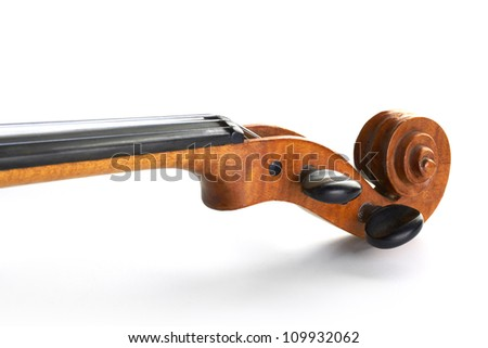 violin neck on white