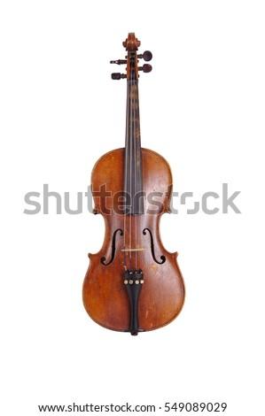 violin on a white background Stock fotó ©