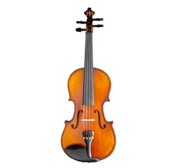 violin on white background isolated top view wallpaper