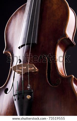 violin string art musical objekt sound black