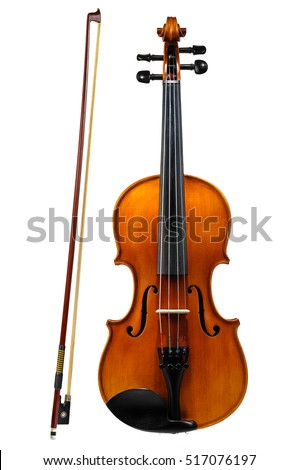 Violin with bow isolated on white background  Сток-фото ©