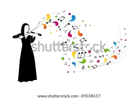 violinist plays the violin