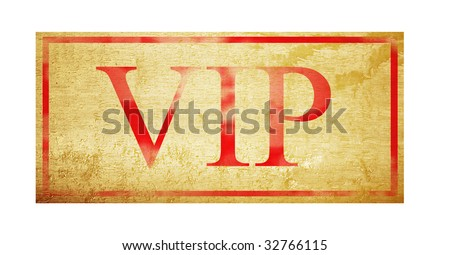 VIP ticket over wooden background. Isolated image