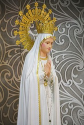 Virgin Mary Our lady of Fatima catholic religious statue