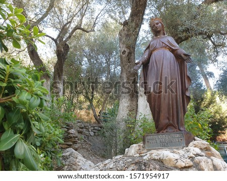 Virgin Mary statue in Virgin Mary House Stok fotoğraf ©