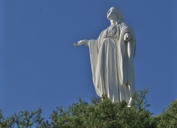 Virgin Mary statue on Cerro San Cristobal, Santiago, Chile