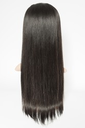 virgin remy clip in straight black human hair weaves extensions wigs