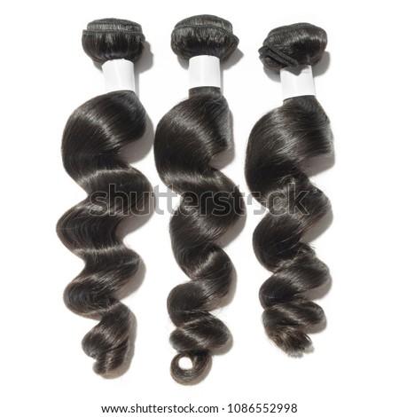 Virgin remy loose wavy black human hair weaves extensions bundles