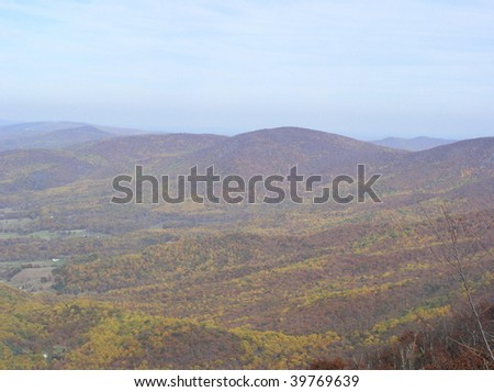 Virginia's Shenandoah Valley at Skyline Drive in autumn