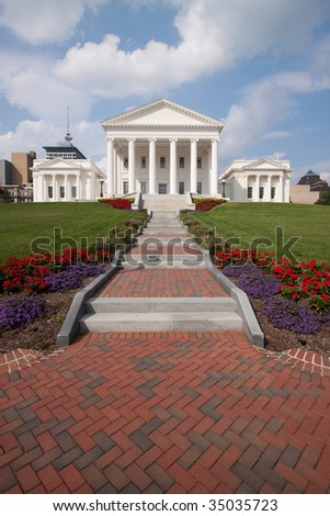 Virginia State Capitol Building, Richmond - stock photo