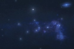 Virgo constellation stars in outer space. Zodiac Sign Virgo constellation stars. Elements of this image were furnished by NASA