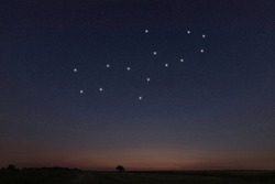 Virgo star constellation, Night sky, Cluster of stars, Deep space, Virgin constellation