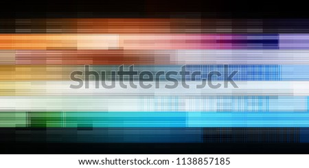 Virtual Background with Futuristic Abstract Concept Art