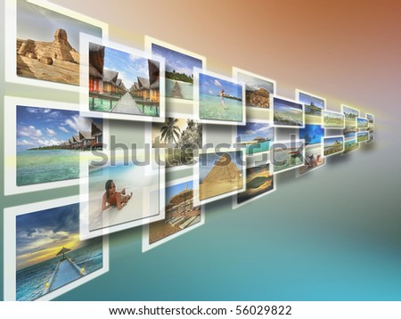 Virtual desktop of holidays pictures - all pictures are coming from my gallery