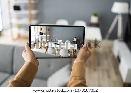 Virtual Open House Showing Or Online Tour Foto stock ©
