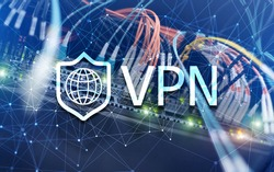 Virtual private network VPN. New technology concept 2020.