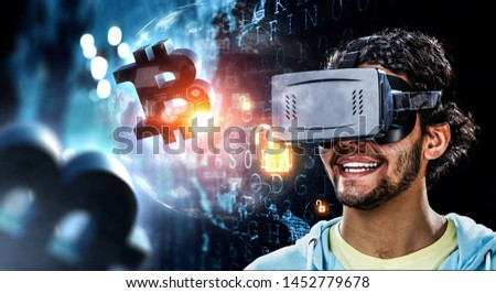 Virtual reality experience. Technologies of the future. #1452779678