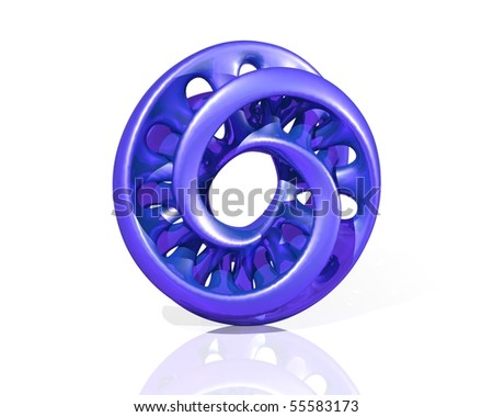 Virtual Sculpture Moebius Glossy Plastic Blue Stock Photo 55583173 ...