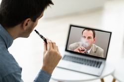 Virtual Smoking Break Using Electronic Cigarettes And Video Conference