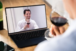 Virtual Wine Tasting By Friends Over Internet Using Video Conference