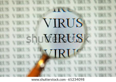 virus on computer screen
