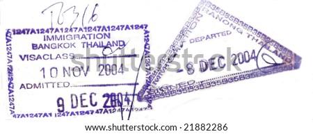 Visa passport stamp from Thailand