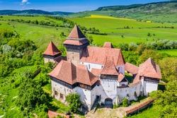 Viscri, Brasov. Fortified church in Transylvania, Romania.