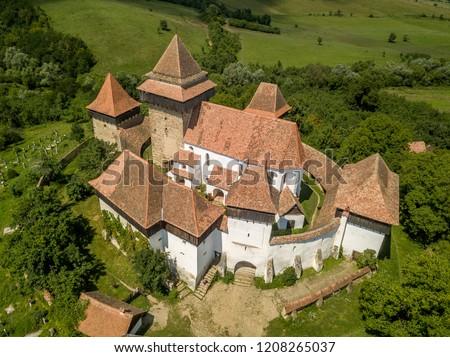 Viscri medieval Saxon fortified church in Transylvania Romania