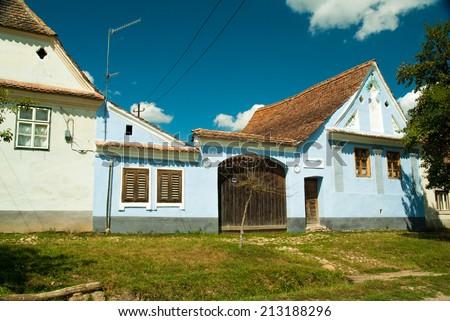 Viscri village, Transylvania, Romania. A beautiful house in the village of Viscri