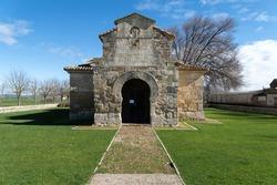 Visigoth church of San Juan Bautista (the oldest church in Spain). Baños de Cerrato, Palencia, Castilla y León, Spain.