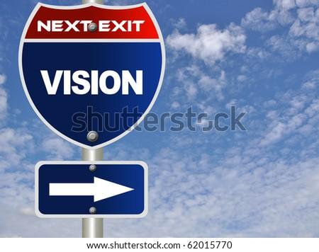 Vision road sign