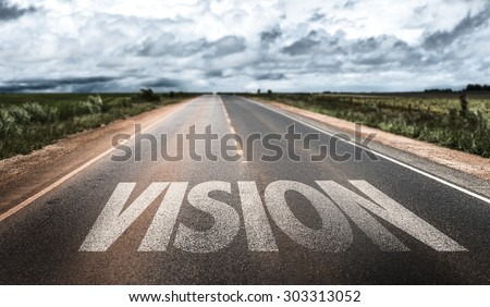 Vision written on road #303313052