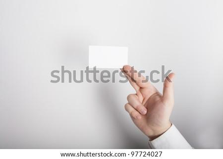 visit card hand