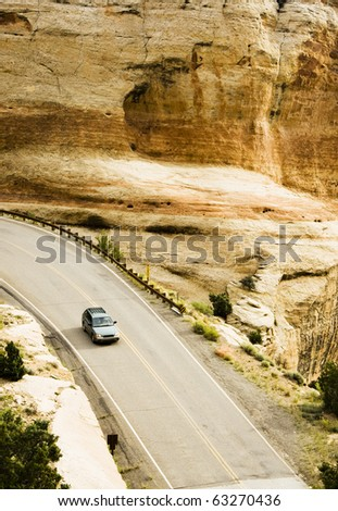 Visitors drive through the scenery along the Rim Rock Drive in Colorado National Park.