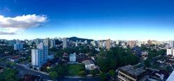 Vista aérea de Joinville, Anita Garibaldi