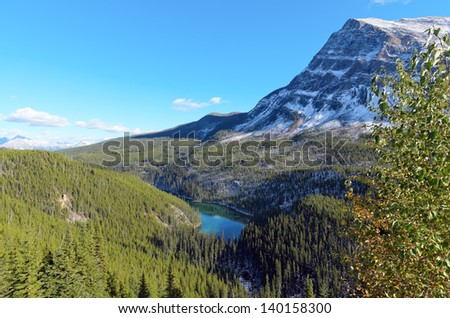 Vista Lake and Storm Mountain from Vermilion Pass Banff National Park Alberta Canada