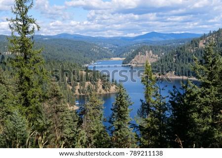 Vista of Lake Coeur d'Alene, Idaho