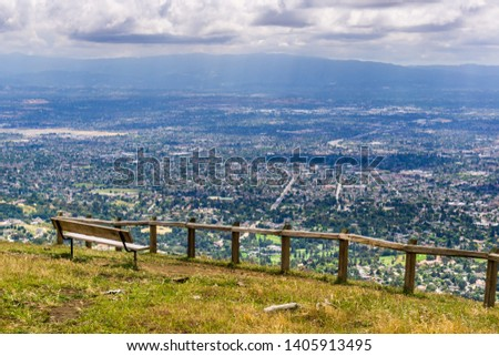 Vista point overlooking San Jose, the heart of Silicon Valley; south San Francisco bay area, California #1405913495