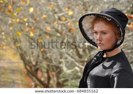 Vistorian woman wearing bonnet #684835162