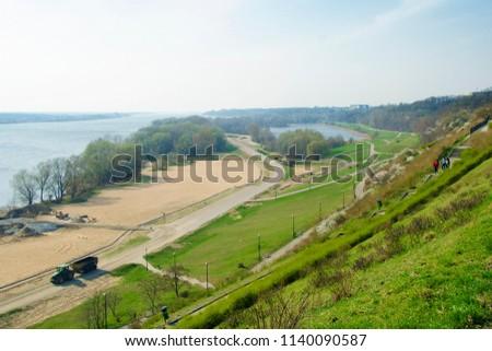 Vistula riverbank at Plock, Poland #1140090587