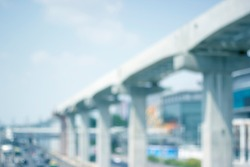 Visual bridge construction, mass transit is a Business background blur.