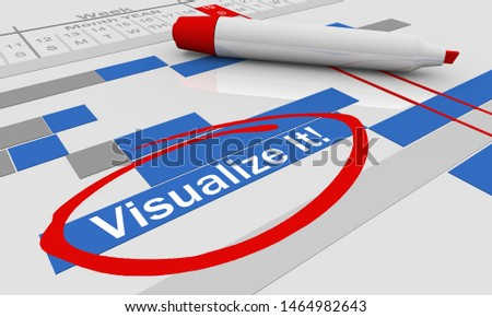 Visualize It Imagine Gantt Chart Imagination 3d Illustration