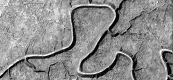 vital artery, allegory, abstract naturalism, Black and white photo, abstract photography of landscapes of the deserts of Africa from the air, aerial view, contemporary photographic art,